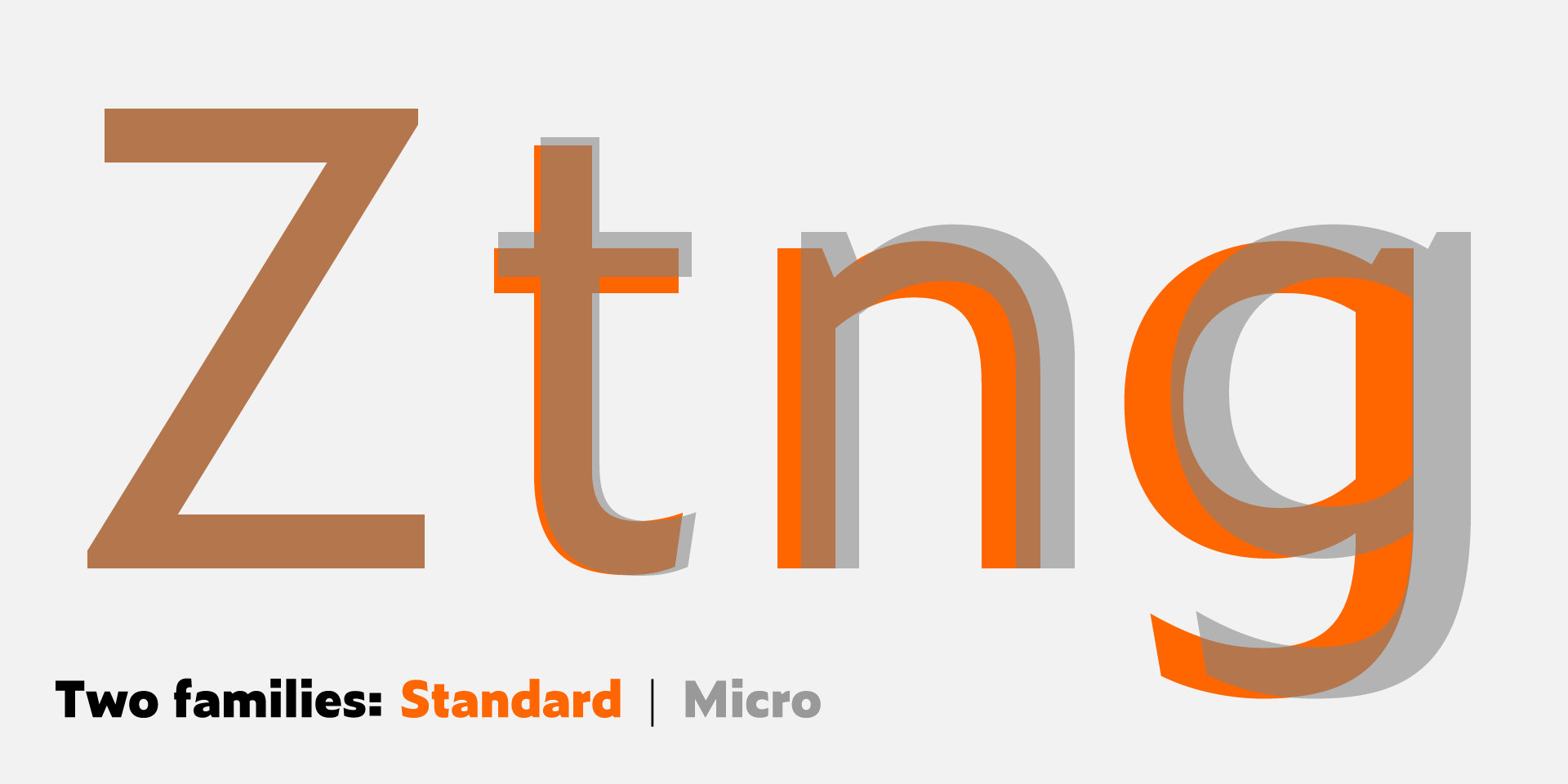 X-height is larger in Zeitung Micro styles